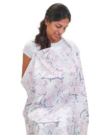 Mi Dulce An'ya Organic Cotton Nursing Cover - White Grey