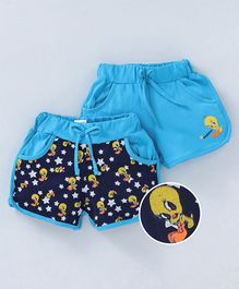 Eteenz Shorts Tweety Print Pack of 2 - Blue