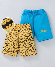Eteenz Shorts Justice League Print Pack of 2 - Blue Yellow