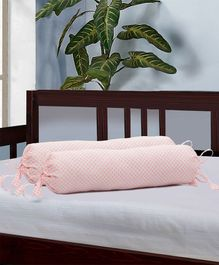 The Baby Atelier Organic Cotton Bolster Cover Set- Light Pink