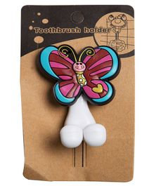 Little Nests Toothbrush Holder Butterfly Design - Multicolour