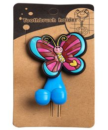 Little Nests Butterfly Shape Toothbrush Holder - Multicolour