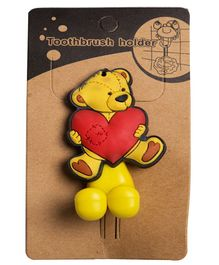 Little Nests Teddy Toothbrush Holder - Red Yellow