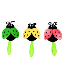 Little Nests Lady Bird Shaped Towel Hooks Set of 3 - Multicolour