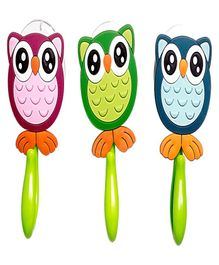 Little Nests Towel Hooks Owl Design Pack of 3 - Multicolour