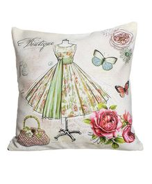 Little Nests Pirouette Printed Cushion Cover - Multicolour