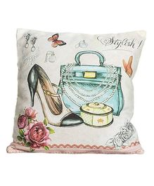 Little Nests Cushion Cover Stylish Print - Multicolour