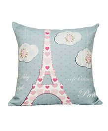 Little Nests Cushion Cover Dreamy Destinations Paris - Light Blue