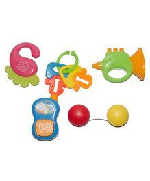 Vibgyor Vibes Rattle Teethers Pack of 5 - Multicolour