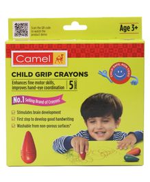 Camel Child Grip Crayons - 5 shades