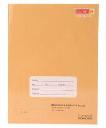 Camlin Four Line Notebook Brown - 180 Pages