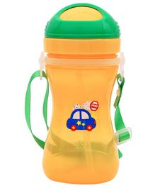 1st Step Sport Sipper Bottle Car Print Orange - 360 ml