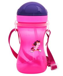 1st Step Sport Straw Sipper Bottle Unicorn Print Pink - 360 ml