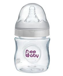 Beebaby Ease Polypropylene Wide Mouth Feeding Bottle White - 150 ml