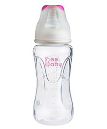 Beebaby Polypropylene Standard Neck Feeding Bottle Pink - 240 ml