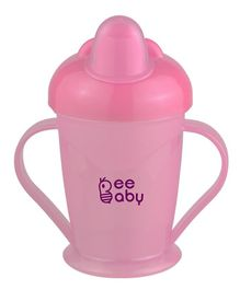Beebaby Twin Handle Sipper Cup Pink - 180 ml
