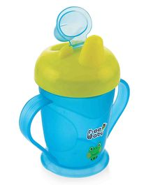 Beebaby Twin Handle Spout Sipper Cup Blue & Yellow - 180 ml