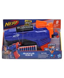 Nerf Elite Rukkus ICS-8 Toy Gun - Blue