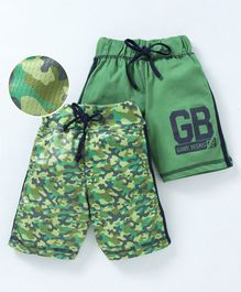 Game Begins Shorts With Drawstring Pack of 2 - Green