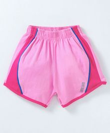 Game Begins Knee Length Shorts Text Print - Pink