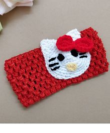 Knit Masters Kitten Embroidered Headband - Red