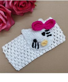 Knit Masters Kitten Embroidered Headband - Pink
