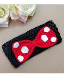 Knit Masters Mouse Bow Headband - Red