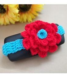 Knit Masters Flower Applique Headband - Red