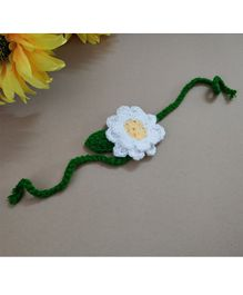 Knit Masters Daisy Flower Headband - White