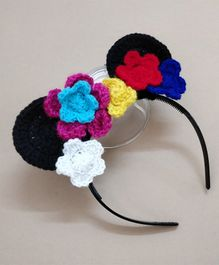 Knit Masters Flower Garland Hair Band - Multicolour
