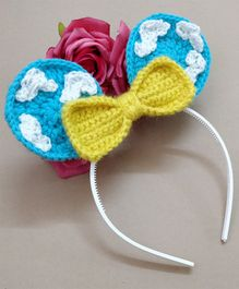 Knit Masters Toy Story Inspired Clouds & Bow Hair Band - Blue