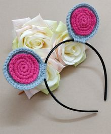 Knit Masters Mouse Baby Ears Hair Band - Pink