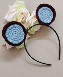 Knit Masters Teddy Bear Hair Band - Blue
