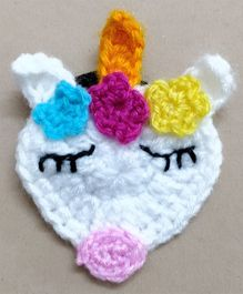 Knit Masters Unicorn Rubber Band - White