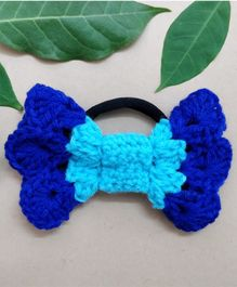 Knit Masters Mermaid Bow Rubber Band - Blue