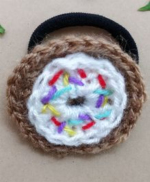 Knit Masters Sprinkled Donut Rubber Band - White