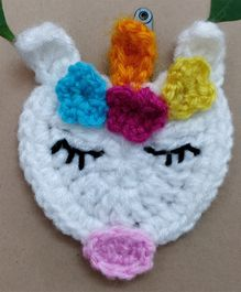 Knit Masters Unicorn Hair Clip - White