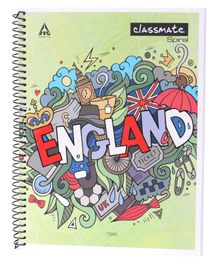 Classmate Spiral Bound Single Line Ruled Notebook - 200 Pages (Print May Vary)
