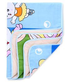 Diaper Changing Mat Bunny Print - Blue