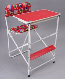 New Natraj Prestige Study Table Animal Print - Red