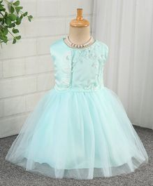 f81f24cf8 Mark   Mia Sleeveless Floral Embroidered Party Frock - Mint Green