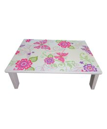 Kidoz Wooden Floral Printed Bed Table - White