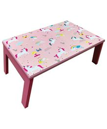 Kidoz Wooden Unicorn Printed Bed Table - Pink