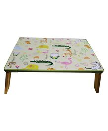 Kidoz Wooden Animal Printed Bed Table - White