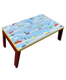 Kidoz Wooden Car Printed Bed Table - Light Grey