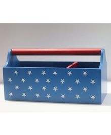 Kidoz Wooden Stars Printed Storage Container - Blue