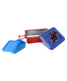 Marvel Spider Man Lunch Box With Stainless Steel Inside - Blue