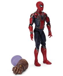 Marvel Avengers Iron Spider Action Figure with Accessories Red Blue - Height 14.5 cm