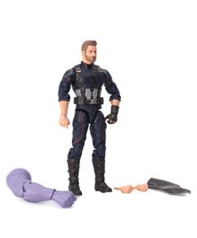 Marvel Avengers Captain America Figure with Accessories Black - Height 15.5 cm