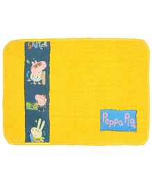 Saral Home Peppa Pig Soft Microfiber Anti Slip Bathmat - Yellow
